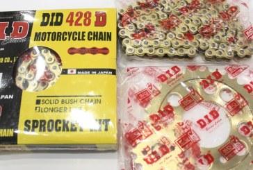 Nhập khẩu và phân phối sỉ lẻ Nhông sên dĩa DID vàng chính hãng Exciter 150 và Exciter 135